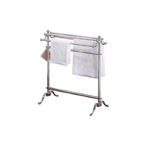 Valsan 53515CR Dos Santos Floor Free Standing 2 Towel Holder in Chrome