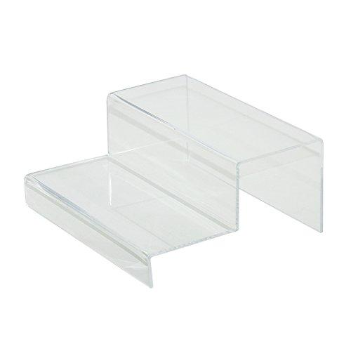 2 Pieces Pack Clear 2 Tier Acrylic Counter Top Riser By Combination Of Life