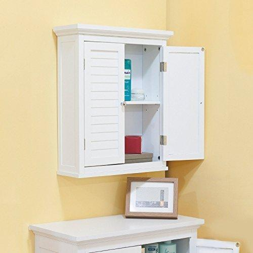 Bathroom Cabinet With Shutter Doors, White by Bayfield