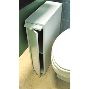 "24"" Wood Slim Bathroom Cabinet Stand - White"