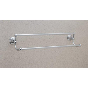 "Rohl ROT20/24STN Vin8Pn Rot20/24 Country Bath 24"" Double Towel Bar, Satin Nickel"