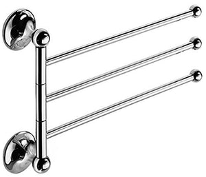 "WS Bath Collections Venessia Collection Self-Adhesive Wall Mount Flexible Towel Bar, 13.3"", Polished Chrome"