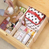 Selection zixijiaju 3pcs adjustable plastic drawer dividers organizer in home kitchen for clothes in bedroom bathroom storage organizers