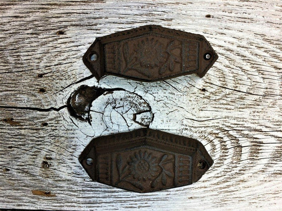 Rustic  Cast Iron Cup Pull Bin Pull Fancy Hardware Kitchen Bin Drawer Pull 2 PK