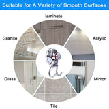 Order now suction cup hooks heavy duty vacuum hook wall suction hooks for flat smooth wall bathroom kitchen towel robe loofah stainless steel chrome pack of 3