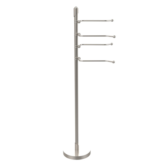 Allied Brass SH-84-SN Soho Collection 4-Swing Arm Towel Stand, Satin Nickel