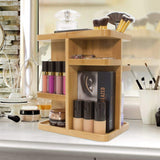 Buy sorbus 360 bamboo cosmetic organizer multi function storage carousel for makeup toiletries and more for vanity desk bathroom bedroom closet kitchen