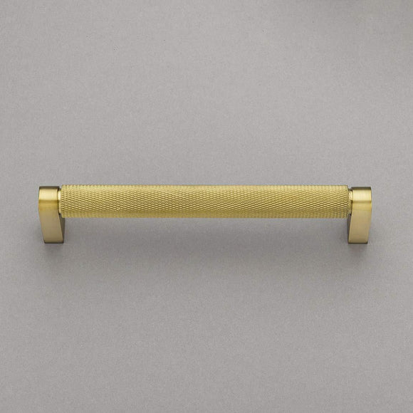 "Belle Knurled Collection 6"" Pull Handle Hardware Burnished Brass Finish Pulls Great for Kitchen or Bathroom Cabinets, Drawers, Dressers, and More! - P100-11/4553"