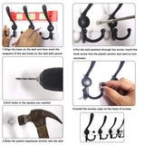 Order now webi coat rack wall mounted 30 inch 8 tri hooks 24 hooks decorative coat hat hook rack heavy duty triple hook rail wall hanging hooks for bathroom kitchen office entryway closet black 2 packs