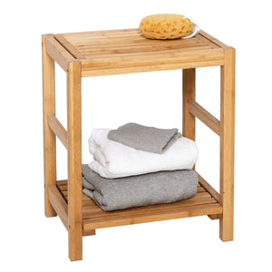 Bamboo Spa Storage Bench