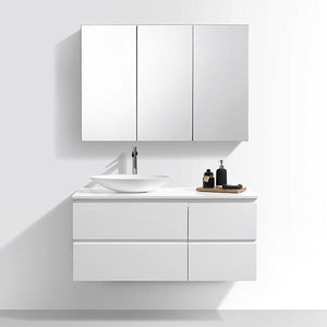 New Style 48-Inch North American Moistureproof Wall Mounted Single Sink Basin Bathroom Cabinet