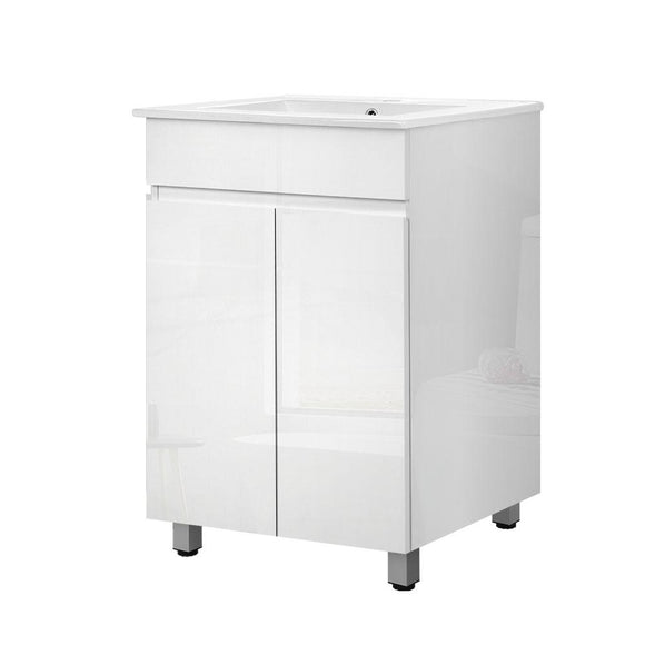 Cefito Bathroom Vanity Cabinet Unit Wash Basin Sink Storage Freestanding 600mm White