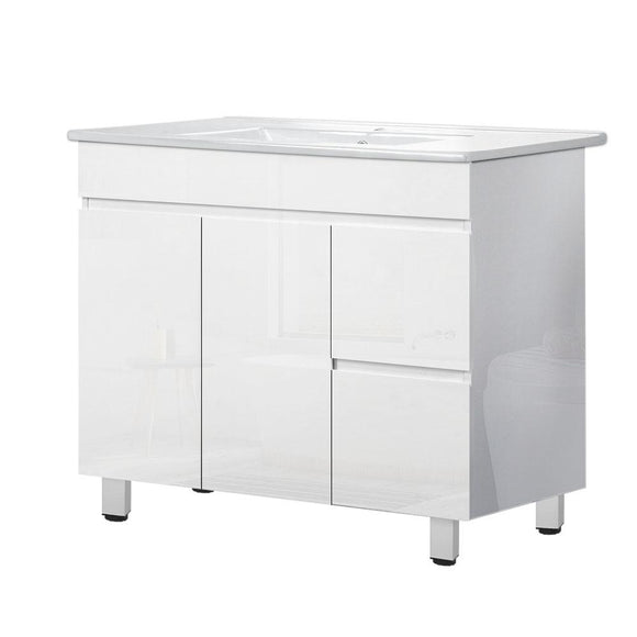 Cefito Bathroom Vanity Cabinet Unit Wash Basin Sink Storage Freestanding 900mm White