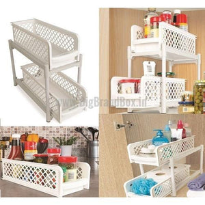 2 Layer Portable Sliding Basket Drawers