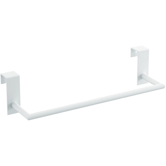Tick Over the Cabinet Door Towel Bar Rail Holder for Bathroom and Kitchen, Brass