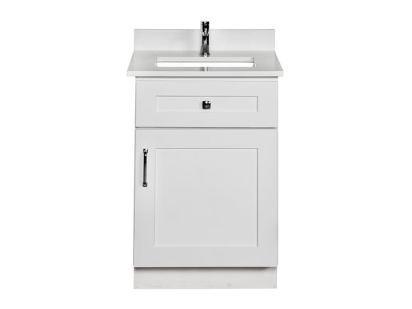 White Powder Room Vanity