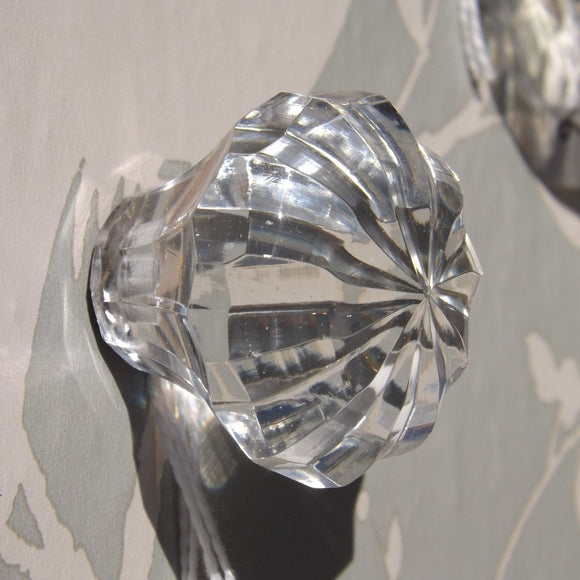 Faceted star glass Drawer Knob 4cm