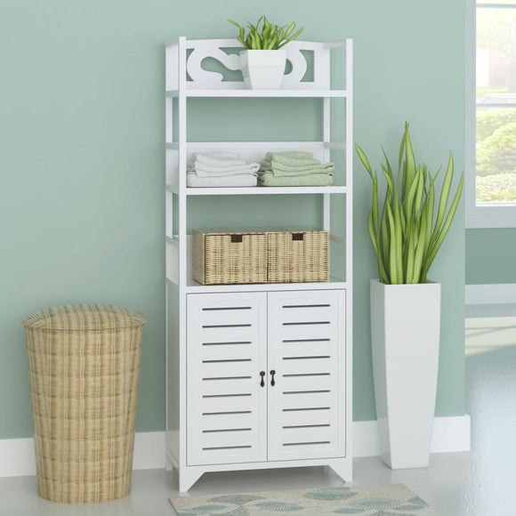 Bathroom Cabinet Albuquerque Wood White 46x24x117.5 cm