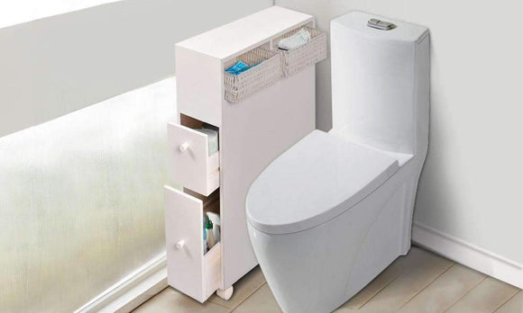 Bathroon Storage Caddy Utility Toilet Cabinet
