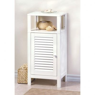 Nantucket White MDF Shelf Cabinet 10015130 Free Shipping
