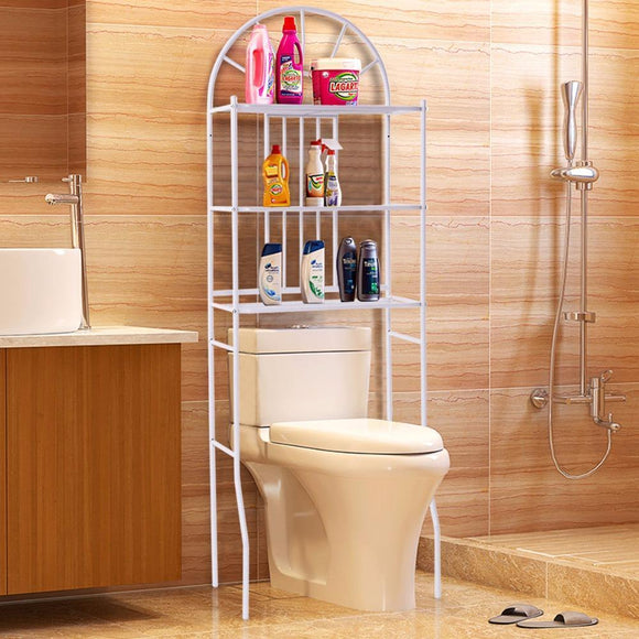 3 Shelf Over The Toilet Bathroom Cabinet Space Saver Towel Storage Rack Organizer White Modern