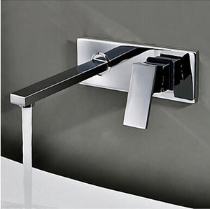 Becola Into The Wall Washbasin Water Tap Three Piece Set Flush Faucet Bathroom Cabinet Basin Mixer Br320