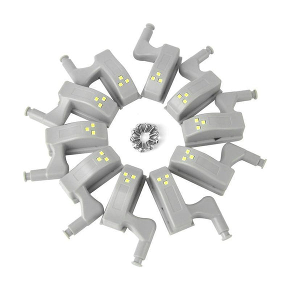 10pcs Cupboard Hinge LED Sensor Light