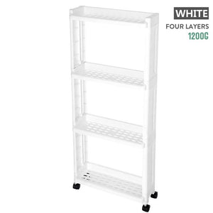 Organizer Shelf Gap Holder With Wheel Refrigerator Bathroom Cabinet