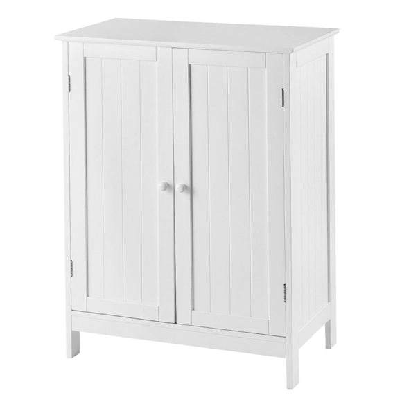 Bathroom Floor Storage Double Door Cupboard Cabinet