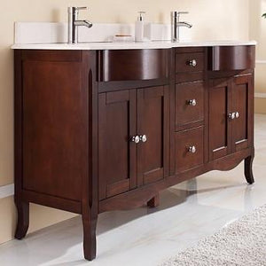 "Tidal Bath Vanity 60"" Double Sink and Top"