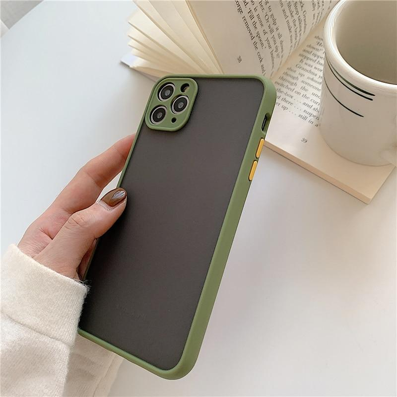 Matte Translucent Shockproof Back Bumper Cover Phone Cases For iPhone 11 11 Pro Max XR XS Max X 8 7 6 6S Plus Camera Bumper Protection