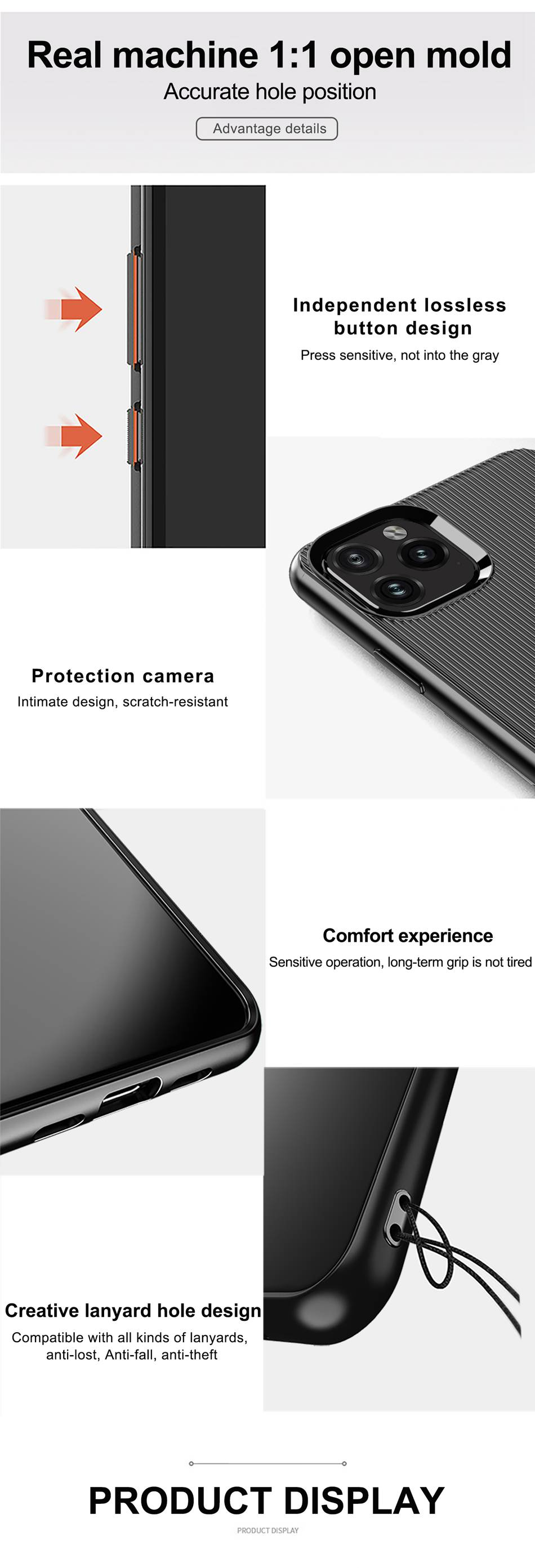 Stylish New Series Anti-Knock Fitted Case For iPhone 11 Pro Max Case 2019  Soft TPU Construction Case For iPhone XR XS Max 6 6s 11 7 8 Plus