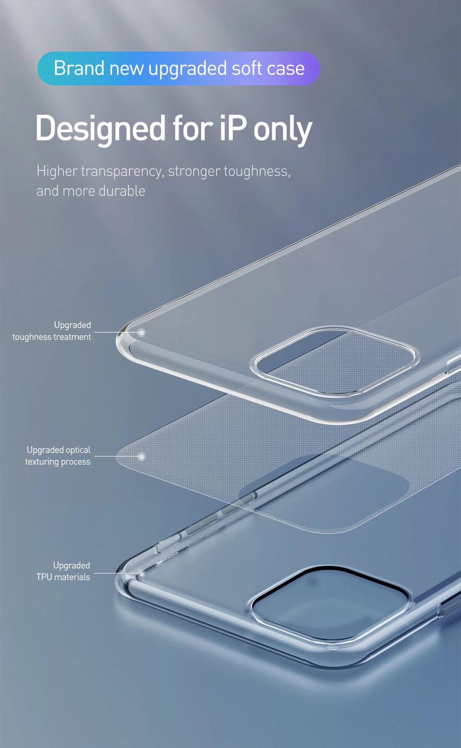 Ultra Thin High Transparency Soft TPU Clear Case For iPhone 11 Pro Max Anti-Scratch Anti-Knock Silicone Back Cover For iPhone Xs Max XR