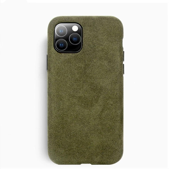 ALCANTARA Suede Luxury Business Phone Case For iPhone 11 Pro Max Phone Case Fashion Leather Full-Protection Suede Phone Cover