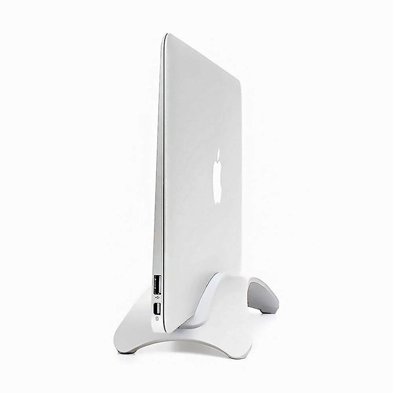 Aluminum Vertical Laptop Stand For MacBook Storage Space Saving Lightweight Solid Stable Desktop Holder For MacBook Pro Air Retina With Silicon Gel Padding