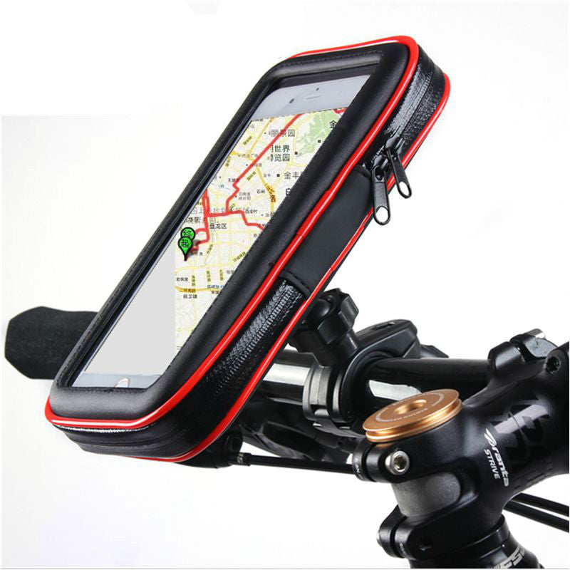 Bicycle Handlebar Mount Phone Holder With Waterproof Case Portable Motorcycle Bike Phone Stand For iPhone Samsung GPS
