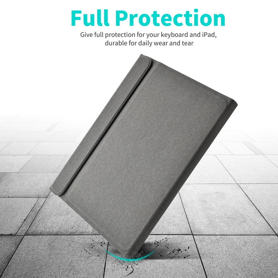 Bluetooth Keyboard Case For iPad Pro 11 2018 Magnetic Flip Stand iPad Case For iPad Air Complete With Wireless Keyboard Pu Leather