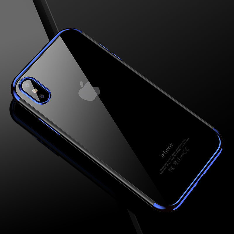 Luxury Ultra Slim Fitted Phone Case for iPhone X 10 Transparent TPU Anti-Knock Protective Soft Silicone Case Back Cover for iPhone X