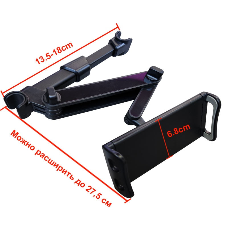 Car Headrest Tablet Mount For iPad Tablet 360 Degree Rotating Mobile Phone Holder Tablet Stand Back Seat Headrest Mount Bracket Suitable For Devices 5-11 Inch