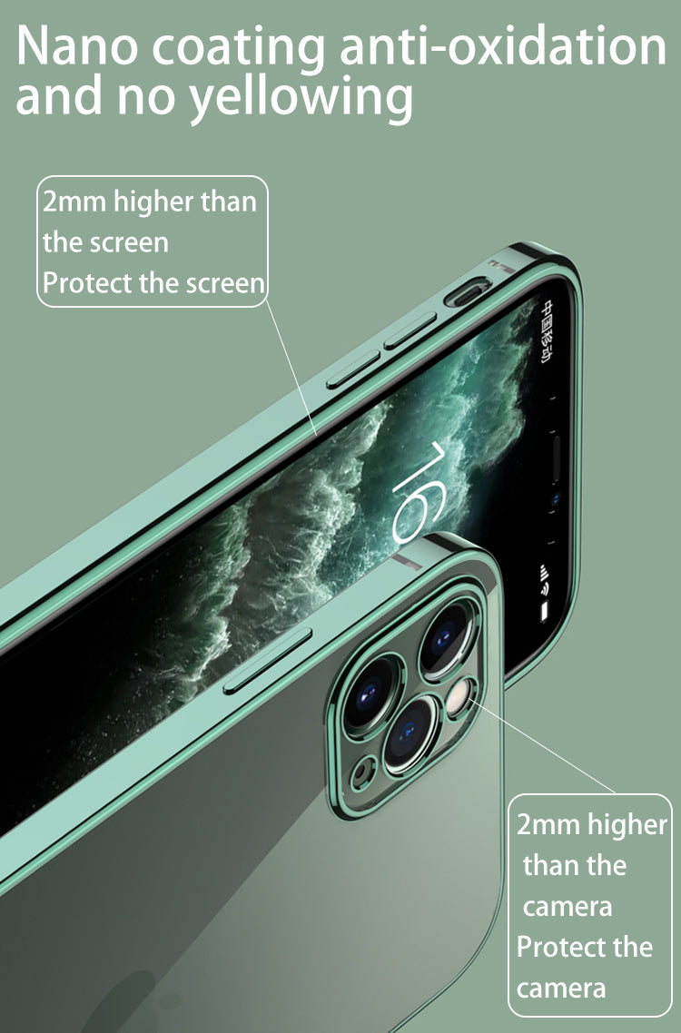 Classic Plain Transparent Square Edge Frame Case For iPhone 12 11 xs Pro Max Mini For iPhone x xr 7 8 Plus SE 2020 Soft TPU Clear Cover Case for iPhone