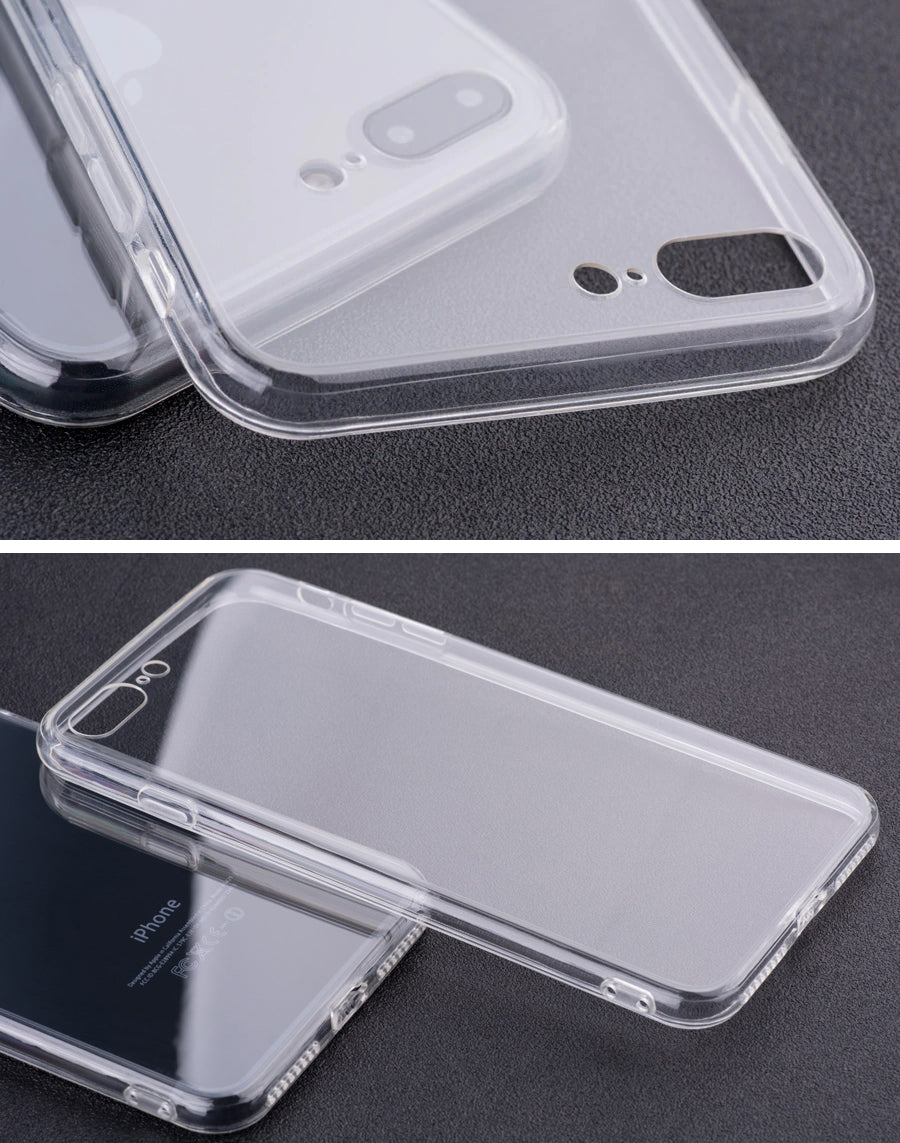 Clear Protective Transparent Case for Apple iPhone X XS Max XR Hard Case With TPU Bumper For iPhone 8 7 6 6s Plus Hard Back Protective Case