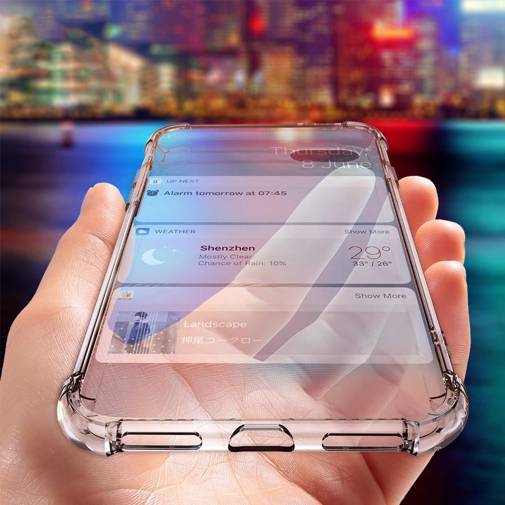 clear shockproof iphone xr case