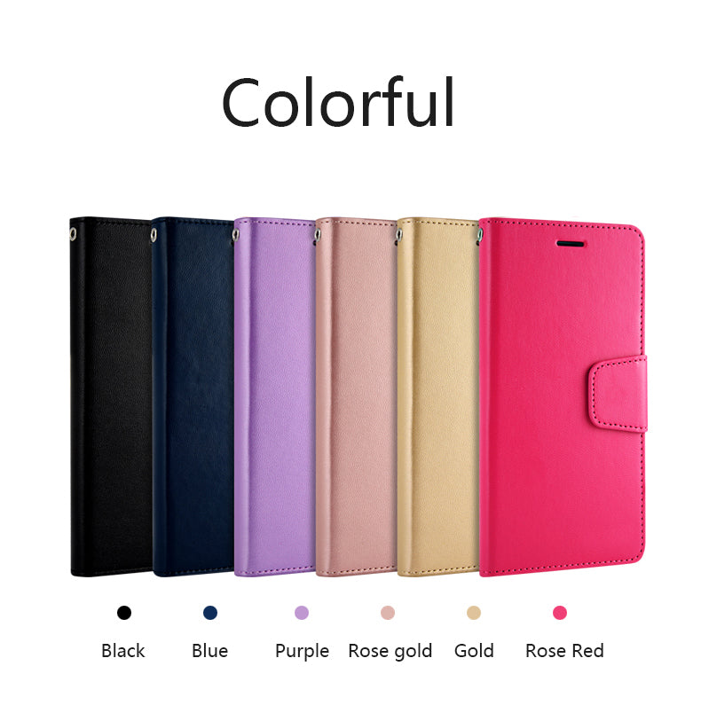 Colorful Hand Made Soft Leather Wallet Case For Apple iPhone X 8 Plus 7 Plus 6 6s Plus Business Card Holder Phone Case For iPhone 5 5s SE PU Flip Cover