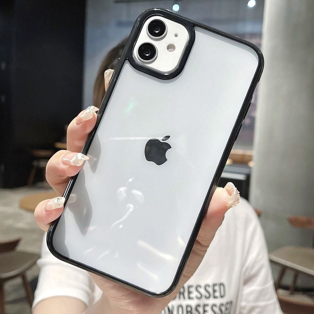 Colorful Shockproof Bumper Protection Transparent Phone Case For iPhone 13 12 Mini 11 Pro Max XR X XS Max 8 7 Plus SE 2020 Soft TPU Back Cover