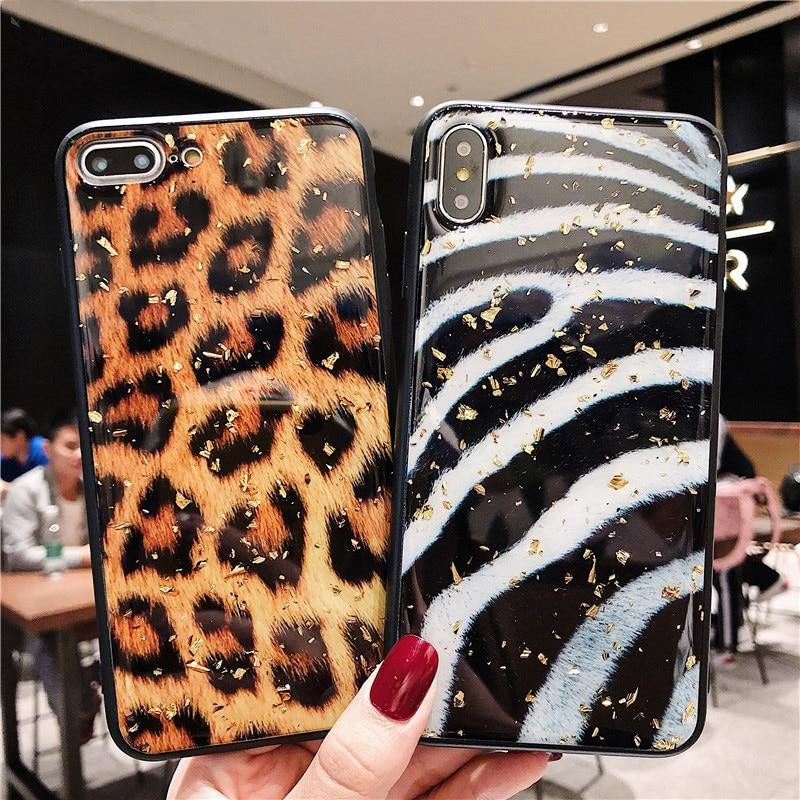 Contemporary Bling Fashion Design Luxury Animal Print Cases For iPhone X XS XR Max Leopard Zebra Snakeskin Soft TPU Cover For iPhone 7 8 6 6S Plus