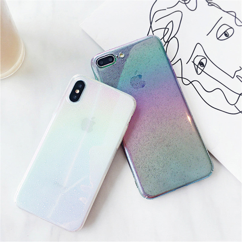 Cool Water Drop Rainbow Case For iPhone X XR XS Max 8 7 6 6s Plus Funny Water Drop Effect Colorful Droplets Gradient Rainbow Cases For iPhone X