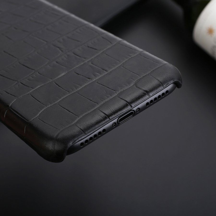 Crocodile Skin Design Genuine Leather Back Cover Case for iPhone X XS Max XR 6 6S 7 8 Plus Crocodile Grain Handmade Classic Real Leather iPhone Case