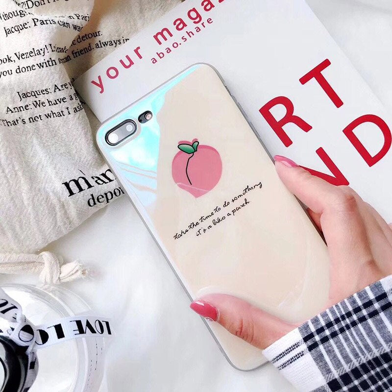 Cute Summer Fruit Cases For iPhone XR XS Max X 6 6S 7 8 Plus Peach Pineapple Watermelon Soft Fitted Case Protective Phone Back Cover (3)