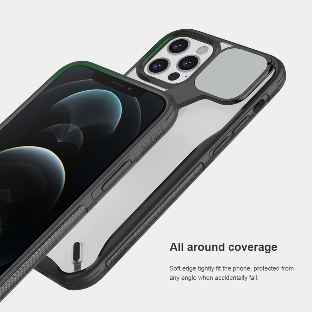 Cyclops Cam Shield Case Protective for iPhone 12 Pro Max With Adjustable Stand Camera Cover Protection Soft TPU Case for iPhone 1212 Pro 12 Mini Case