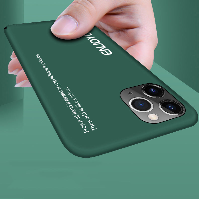 Enjoy Life Ultra-Thin Colorful Matte Phone Case For iPhone 12 11 Pro Max XS Max XR XS X 8 7 6s 6 Plus Hard PC Shockproof Shell Case With Frosted Cover